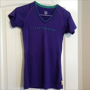 """NIKE LIVESTRONG 🌈DRI FIT """"Fitted"""" EUC"""